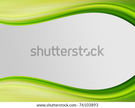 Green dynamic wave with white space to insert text or design. Cool illustration
