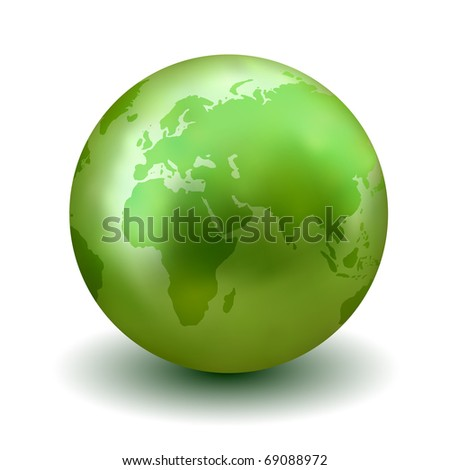 Green Earth Globe