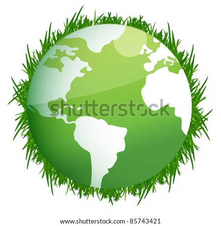 Green Earth. Illustration on white background