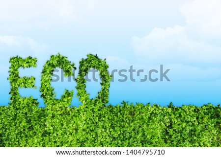 Green Eco Earth Day concept art with space for background