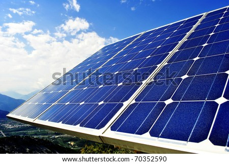 Green economic, solar panels to produce electricity from the sun