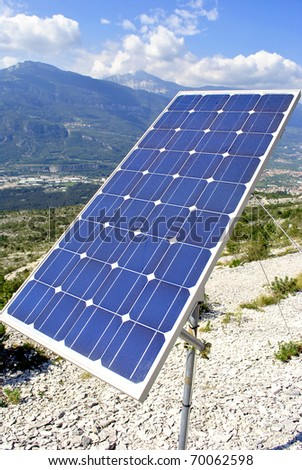 green economy, solar panels for electricity production