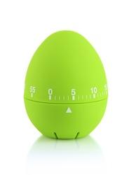 Green egg timer, isolated on white