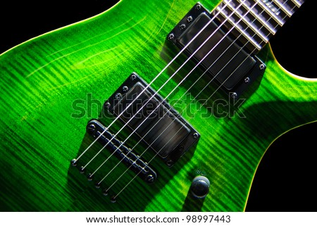 Green Electric Guitar Green Electric Rock Guitar on