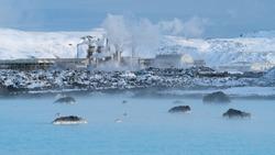 Green Energy, geothermal power plant of Grindavik during wintertime, Iceland