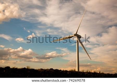 green energy - wind turbines
