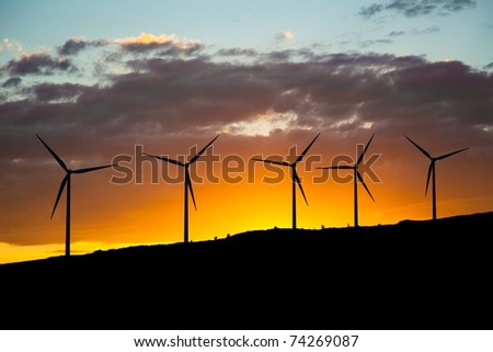 green energy - wind turbines