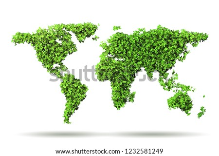 Green environment and ecology concept- 3D rendering #1232581249