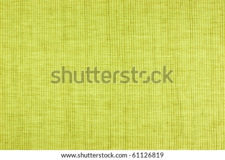 Green fabric background with stripes texture.