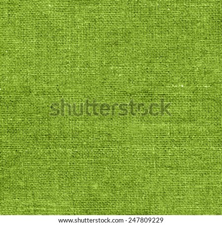 Green  fabric texture for background. Texture sack sacking country background