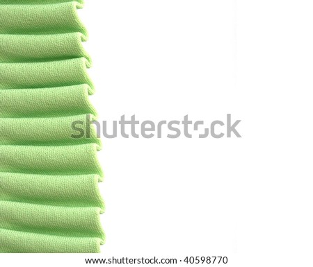 Green fabric with space for text
