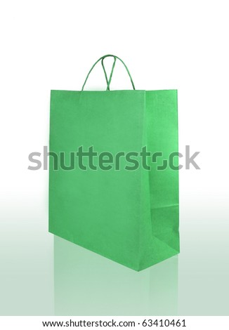green fashion Crumpled paper bag
