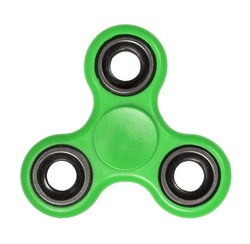 Green Fidget Spinner isolated on a white background
