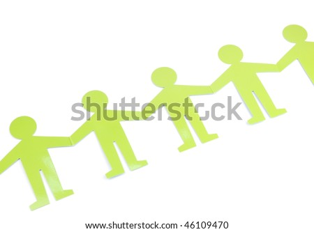 green figures representing people connected, concept for social networking