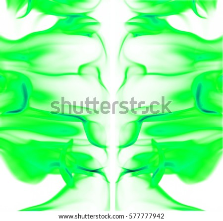 Green fire light smoke abstract shapes background #577777942