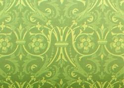 green fleur de lis textured paper