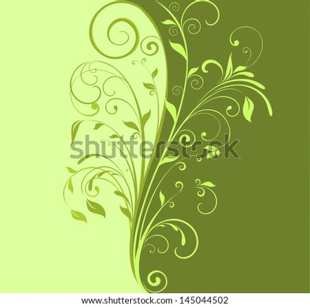 green floral background raster