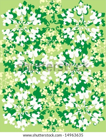 Green Floral Pattern « Free Vectors