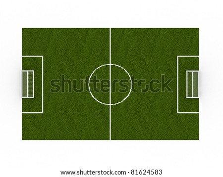Green football ground on a white background ?2