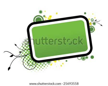 Green Frame - stock photo