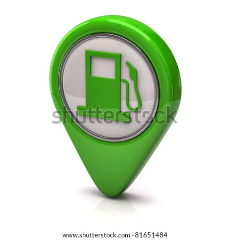 Green fuel icon - stock photo