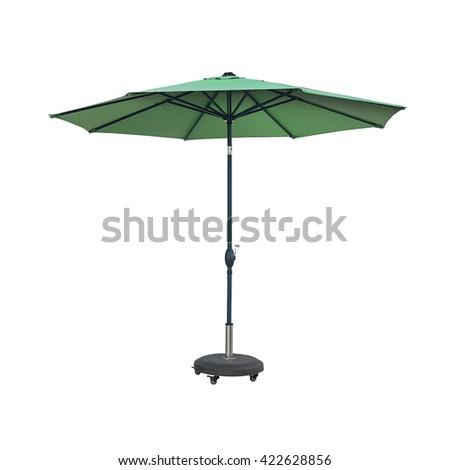 Green garden umbrella  #422628856