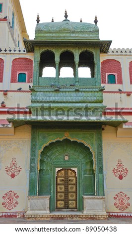 Green Gate in City palace, Jaipur, India