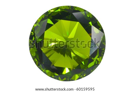 green gem isolated on white