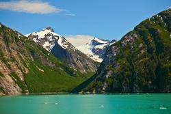 Green Glacial waters of the inside passage, Alaska, USA