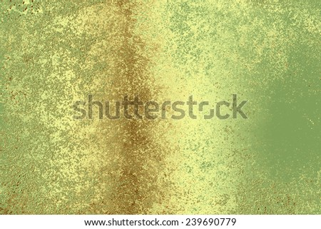 Green golden , abstract  background , with   painted  grunge background texture for  design