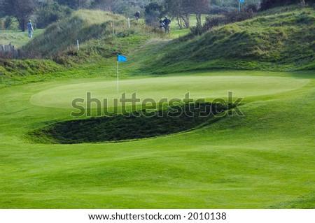 green golf course landscape