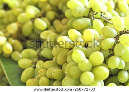 Green grapes at the market #268792733