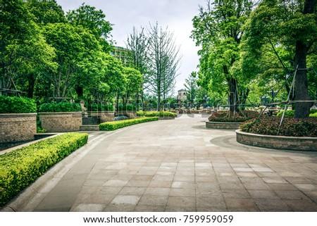 Stock Photo green grass field in big city park
