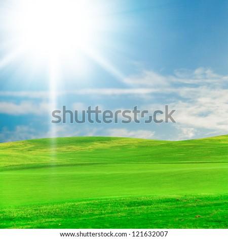 Green Grass Golf Field