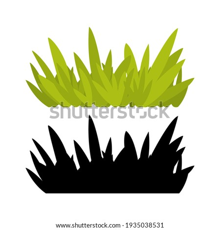 Green grass isolated on white background.  illustration.