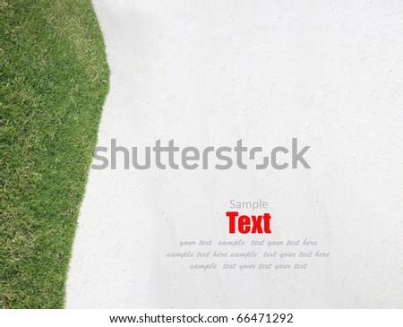 green grass left side background