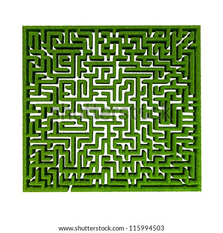 green grass maze background.
