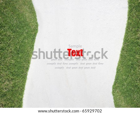 green grass & sand background