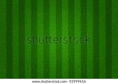 green grass soccer  field background - stock photo