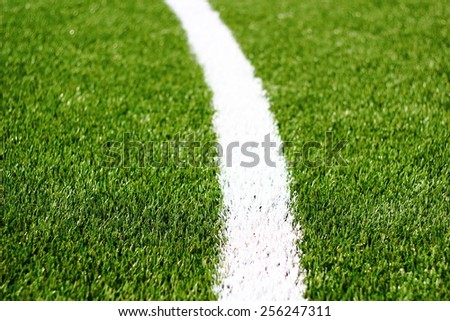 Green grass soccer field is used for playing soccer./Football field./Green grass soccer field is used for playing soccer.