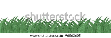 Green grass texture made by recycle paper - stock photo