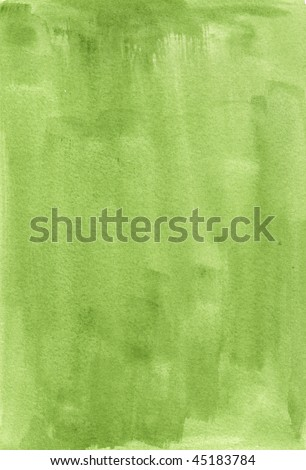 green great watercolor background - watercolor paints on a rough texture paper
