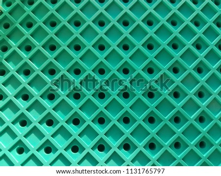 Green grid, lines in the form of a square. Pattern background, texture. #1131765797