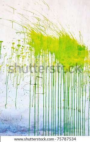 Green grunge stain over a white background