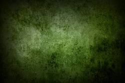 Green grunge textured wall. Copy space