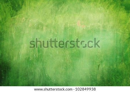 Green grunge wall texture background - stock photo