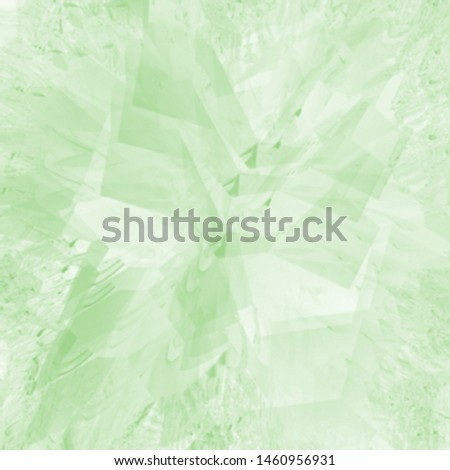 green hand drawn watercolor marble glass jewel background pattern with edged structures