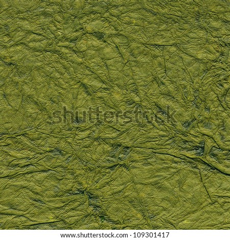 Green handmade paper with pattern
