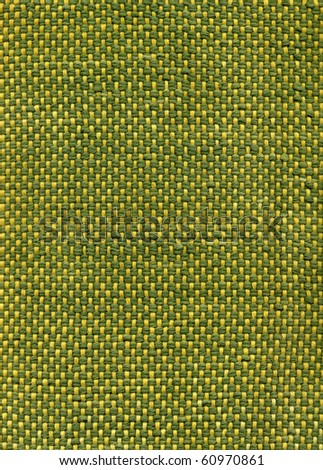 Green handwoven fabric, close up detail