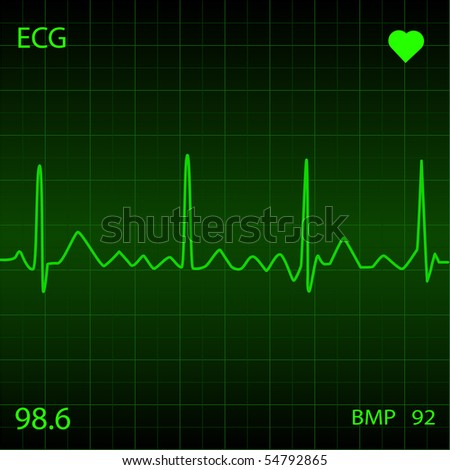 Green Heart Monitor. EPS available in my portfolio.